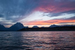 Sunset over Jackson Lake, August 19, 2013