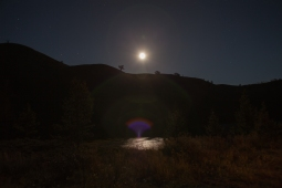 Moonlight on the water, September 20, 2013