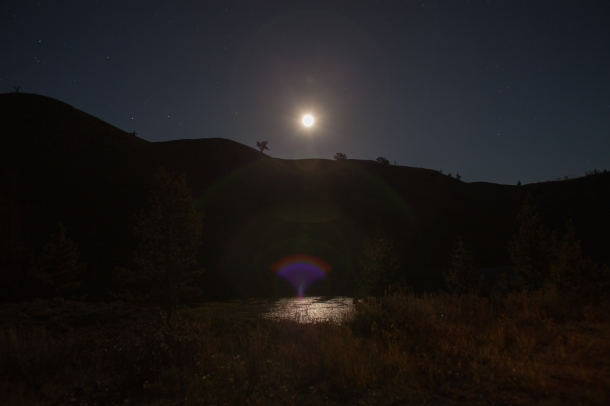 Moonlight on the water, September 20, 2013