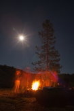 Fire and moonlight, September 20, 2013