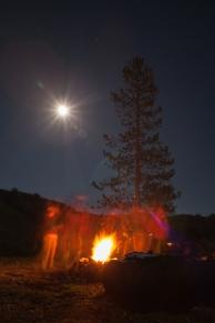 Fire and moonlight, September 20, 2013