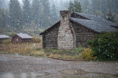 First snow, September 25, 2013