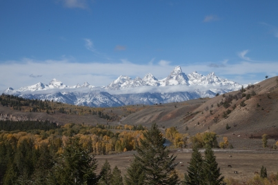 View of the Tetons, October 5, 2013
