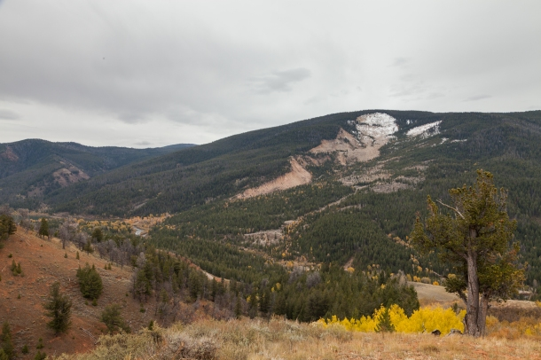 View of Gros Ventre Slide, October 10, 2013