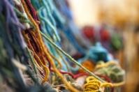Yarn on a loom, October 17, 2013