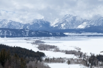 Blacktail Butte and the Teton Range, March 4, 2014