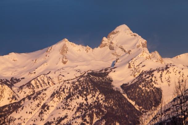 Alpine glow, March 19, 2014