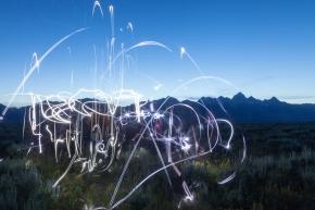 Fireworks in theTetons